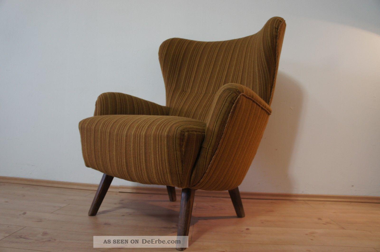 cocktail sessel cocktailsessel kaminsessel arm chair 50er jahre ohrensessel 50s. Black Bedroom Furniture Sets. Home Design Ideas