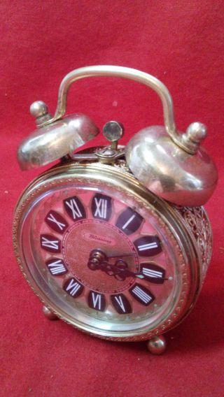 Alte Luxus Mini Wecker Uhr,  Mechanisch M.  Glockenschlag Bild