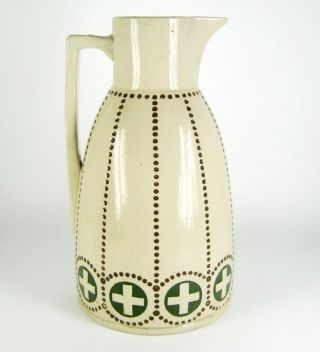 Jugendstil Keramik Kanne / Krug Ca.  1910 Art Nouveau Pottery Jug 28cm Bild