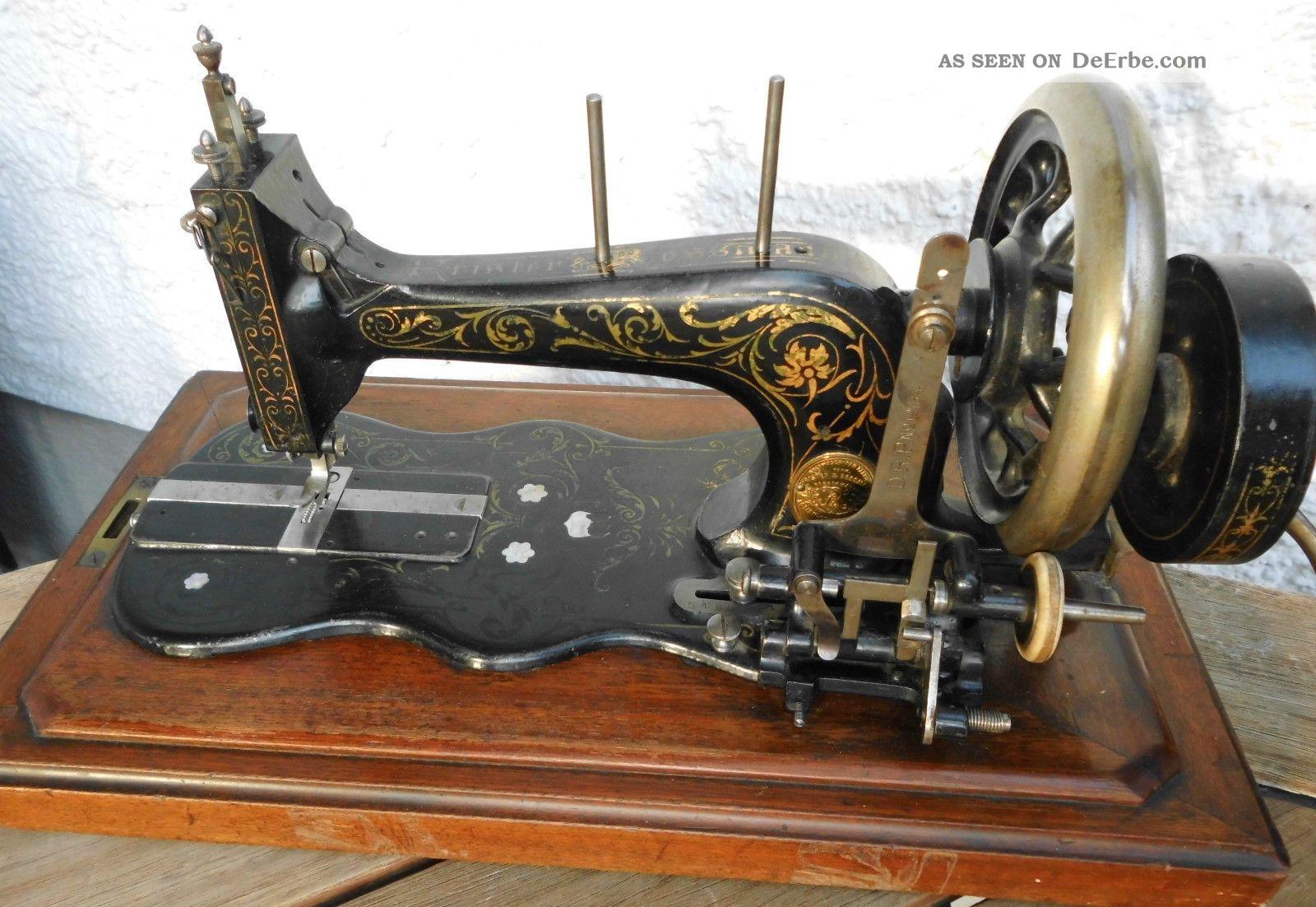 antike n hmaschine frister rossmann koffern hmaschine ca. Black Bedroom Furniture Sets. Home Design Ideas