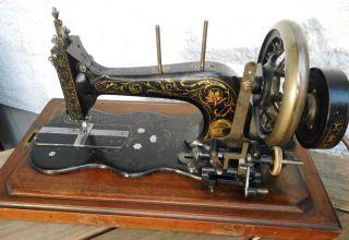Antike Nähmaschine Frister & Rossmann Koffernähmaschine Ca.  1880 Selten Vintage Bild