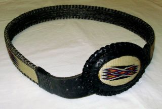 Montana State Prison Deer Lodge Hitched Horsehair Belt With Buckle,  Ca.  1950 Bild