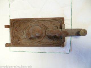 Scheunenfund.  1.  Sehr Alte Und Gut Erhaltene Gussofen - Tür - - - Sammler Bild