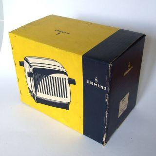Siemens Toaster Brn1 1952 50er Chrom Bakelit Ovp Klapptoaster Brotröster Wie Bild