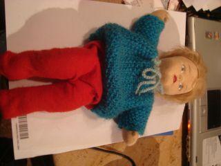 Haushaltsauflösung Puppe Kruse?handgemacht?stoff Nylon älter Deko Spielzeug Bild