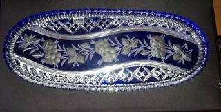 Schale/platte Oval Bleikristall Bild