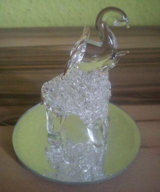 Elefant Glasfigur Skulptur Kristall Kristallglas Bild