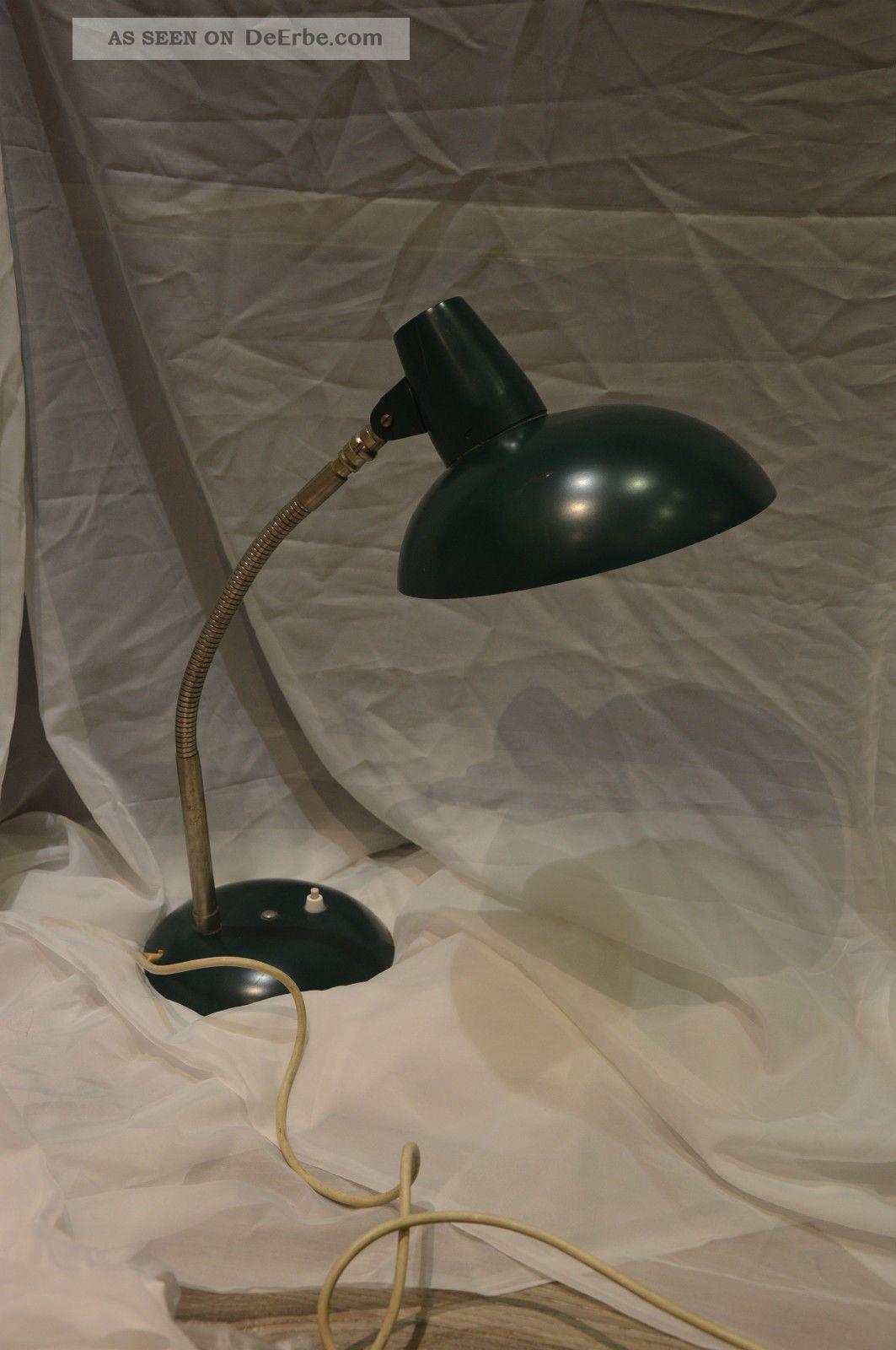 Sis Design Alte Schreibtischlampe Bauhaus Leuchte Schwanenhals Grau 1950-1959 Bild