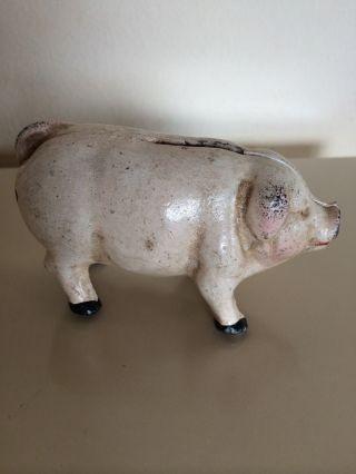 Kleines Altes Sparschwein Aus Metall Bild
