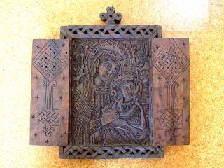 Aethiopica,  Ethiopia,  Wunderschöne Geschnitzte Äthiopien Holz - Ikone Koptisch Bild