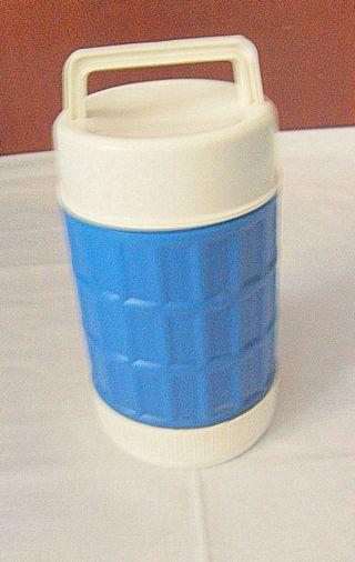 Blau Weiße Thermoskanne,  Eisbombe Thermosgefäß Wohl Ddr 70er Jahre Bild