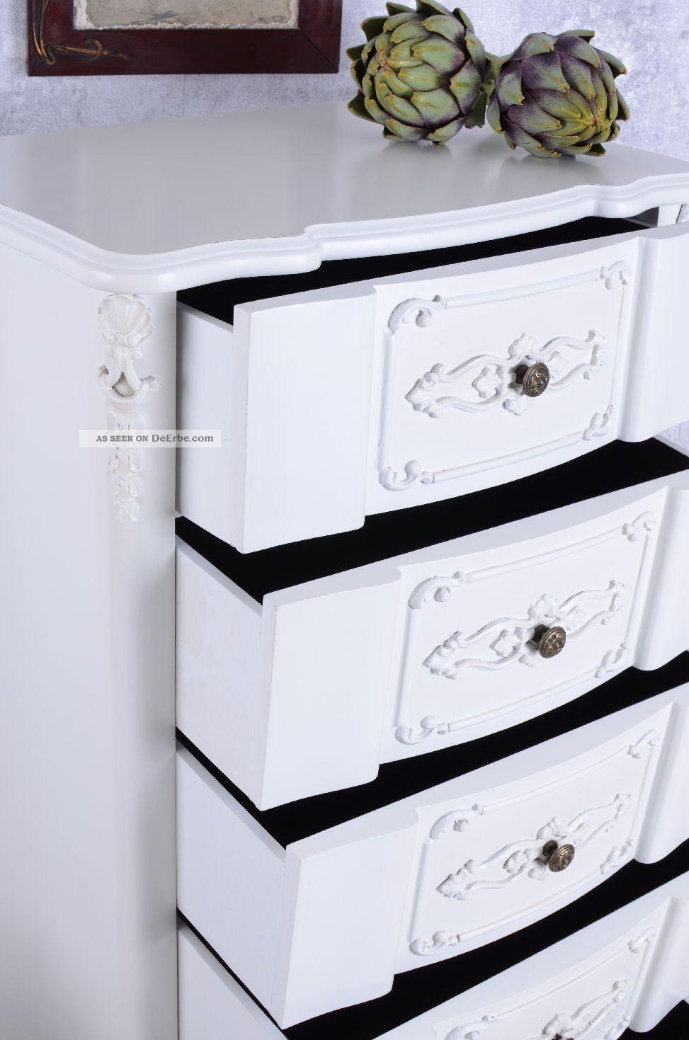 kommode weiss hochkommode shabby chic 6 schubladen vintage. Black Bedroom Furniture Sets. Home Design Ideas