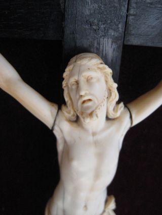 Beinkruzifix Skulptur Um 18.  Jh.  Viernageltypus,  Flämische Künstler Um 1720 Bild