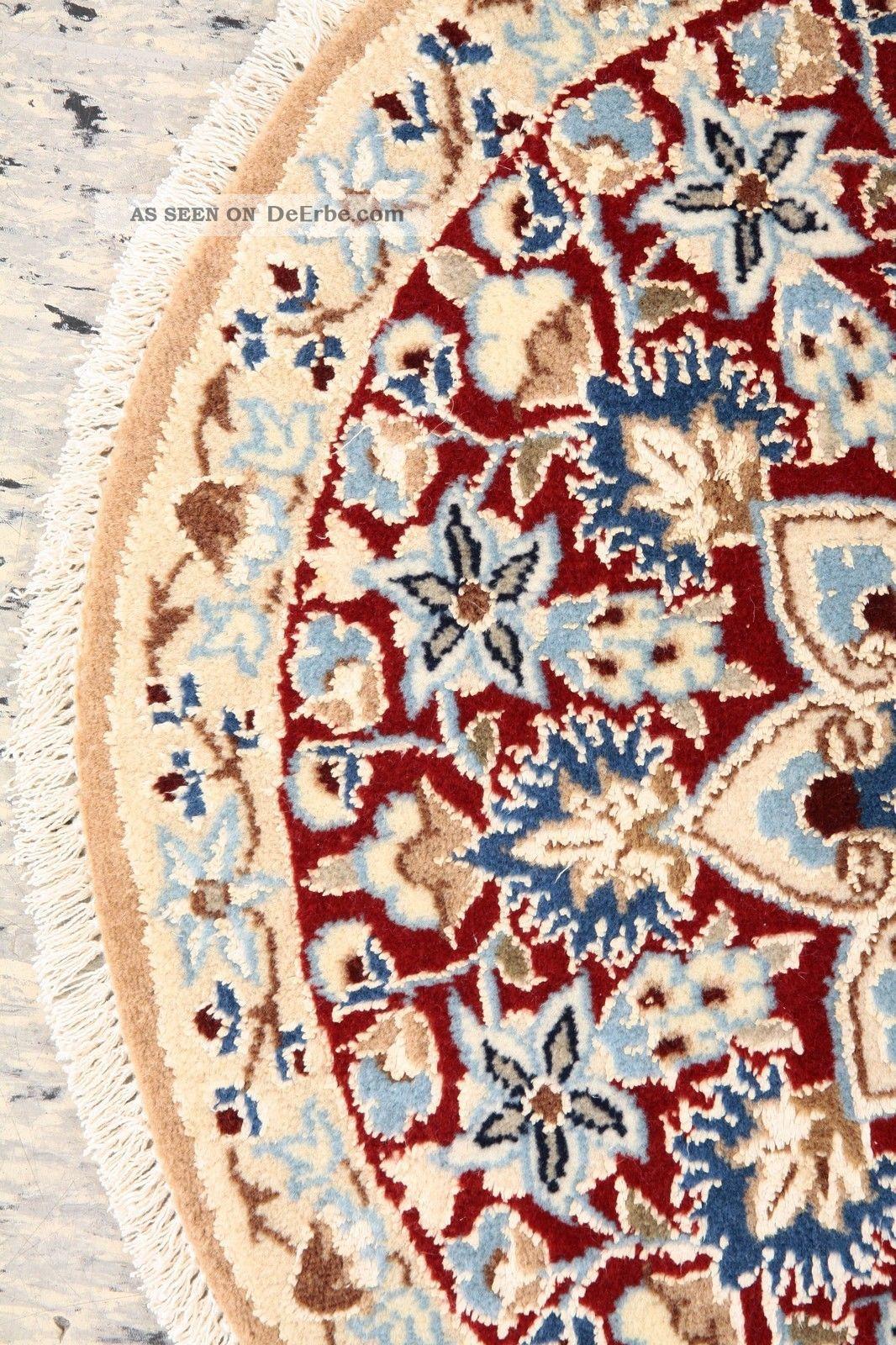 handgekn pfter persischer teppich rund ca 52 cm. Black Bedroom Furniture Sets. Home Design Ideas