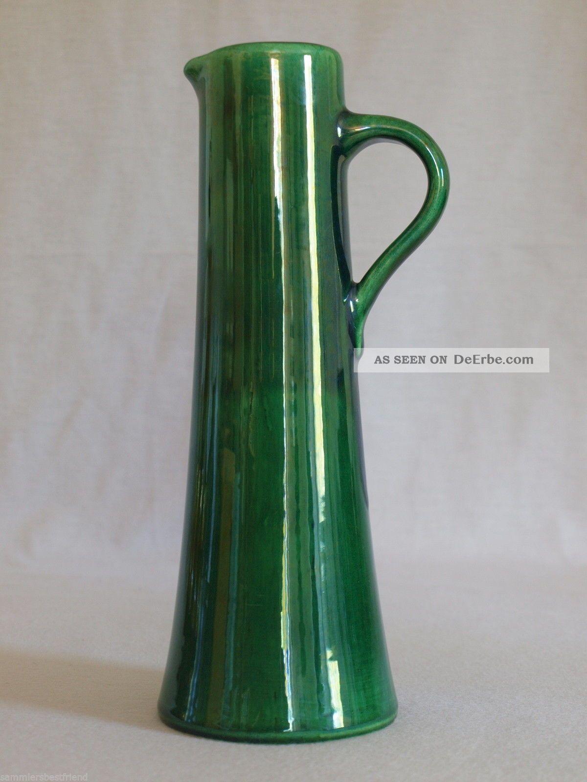 seltene kn dgen keramik krugvase form 2562 25 gr n henkelvase keramikvase. Black Bedroom Furniture Sets. Home Design Ideas
