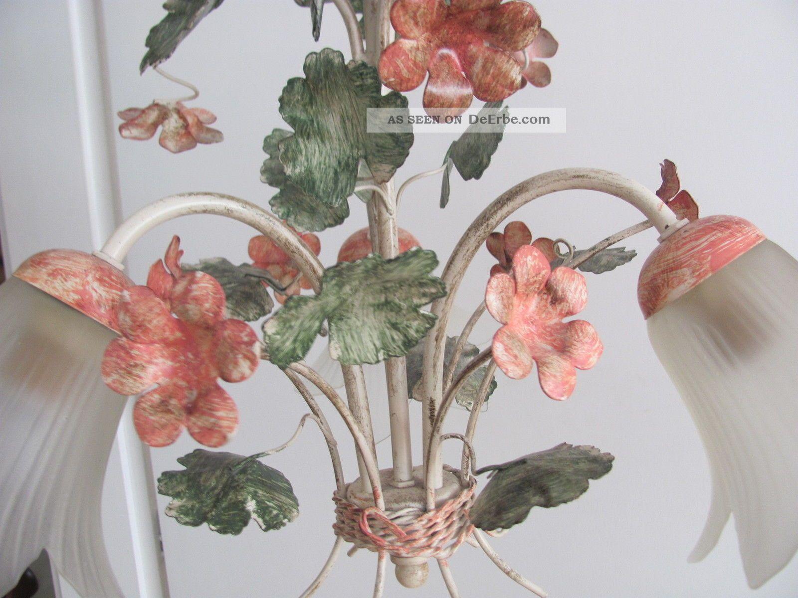 Kronleuchter Mit Blumen ~ Florentiner blüten blumen lampe landhaus chabby chic kronleuchter