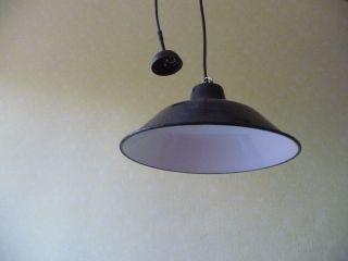 Emaille Lampe Alte Industrielampe Fabriklampe Vintage Industrial Lamp 35 Cm E 27 Bild
