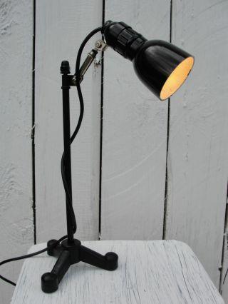 1940 - 1950 Art Deco,  Bauhaus Bakelit Tischlampe,  Werkstattlampe Mit Rg Bild
