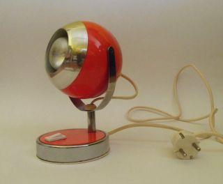 Vintage Kugellampe Tischlampe Schreibtischlampe Orange · 70er Jahre Space Age Bild