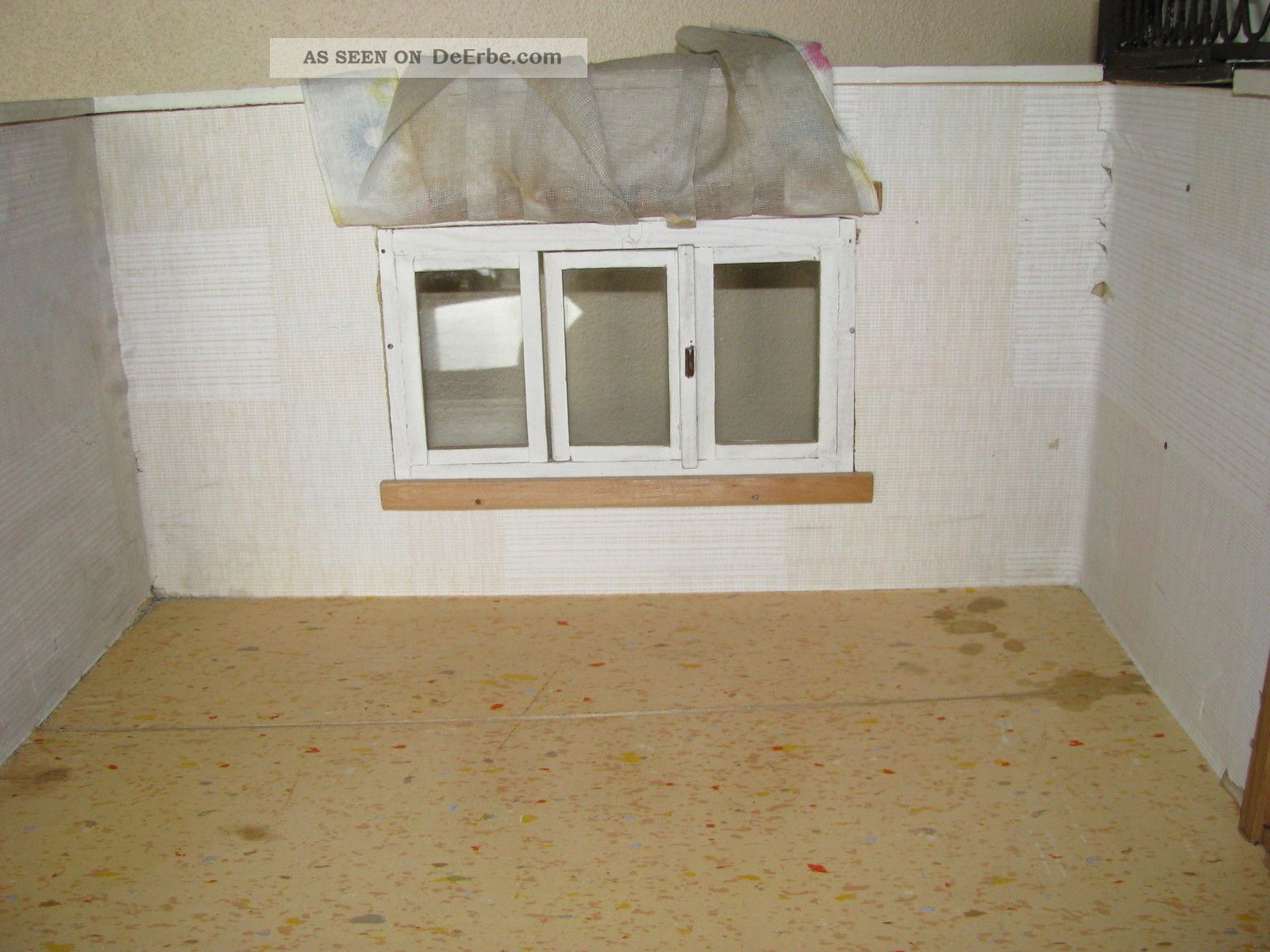 Alte Puppenstube 2 Raum Kammer Balkon Terrasse Zum Renovieren Und
