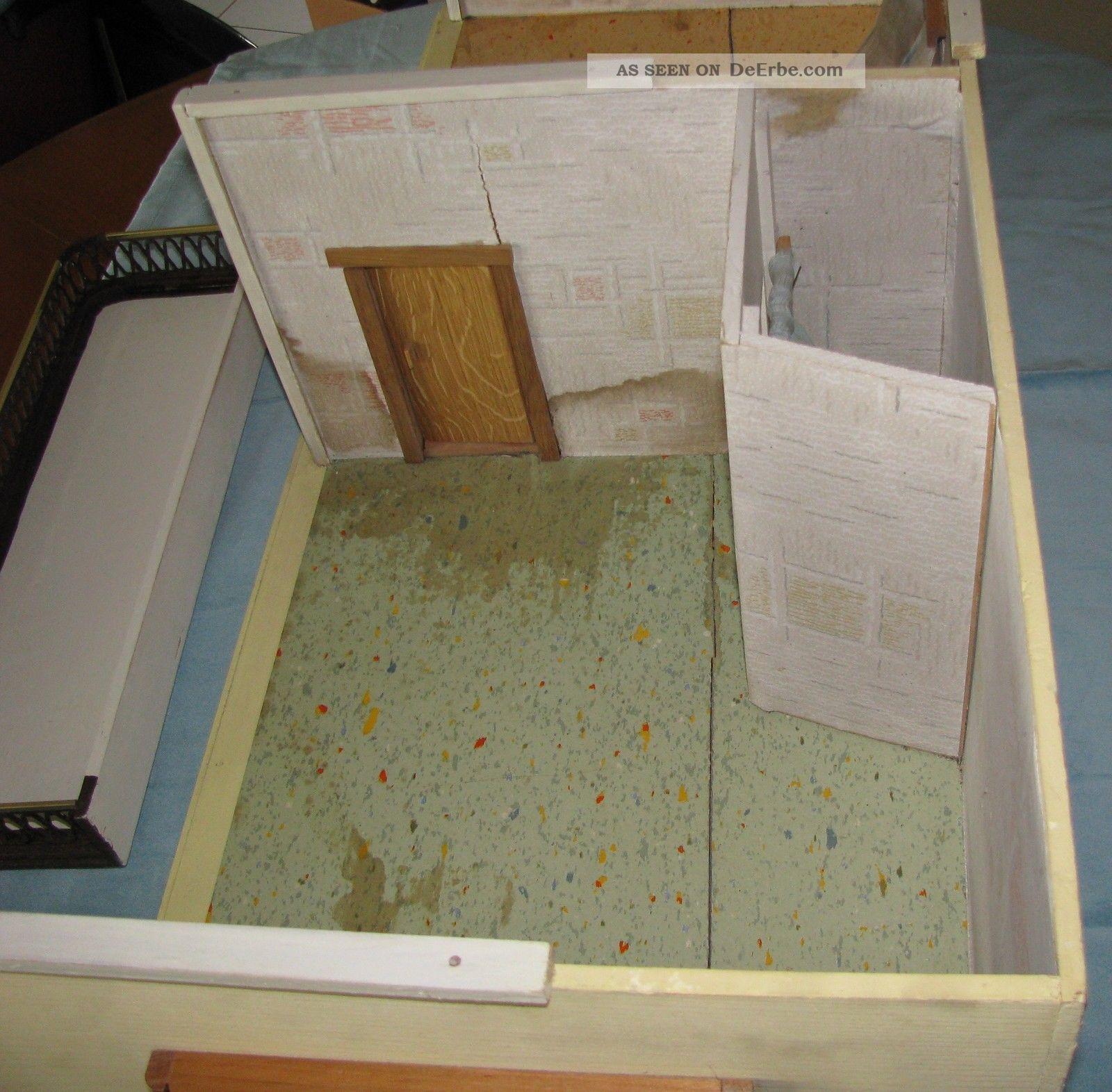 alte puppenstube 2 raum kammer balkon terrasse zum renovieren und einrichten. Black Bedroom Furniture Sets. Home Design Ideas