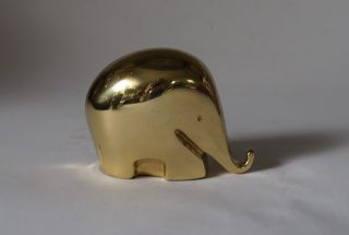 Rare Colani Briefbeschwerer Paperweight Dumbo Elephant 70s Messing Brass Bild