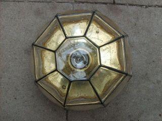 70er Lampe GlashÜtte Limburg Deckenlampe Plafoniere 26 Cm Decken Lampe Bild