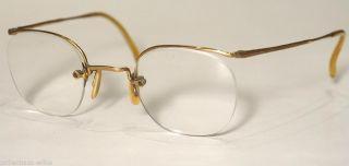 Historische Antikbrille,  40er Jahre,  Golddouble 14karat Bild