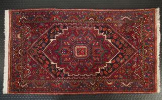 Orient - Teppich Handgeknüpft 140x80 Brücke Leder - Kante Carpet Rug Tapis Tappeto Bild