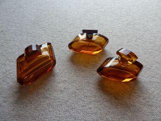 Frisiertisch - Garnitur - Art Deco - Kristall Glas - Rauchfarben - 3 - Tlg. Bild