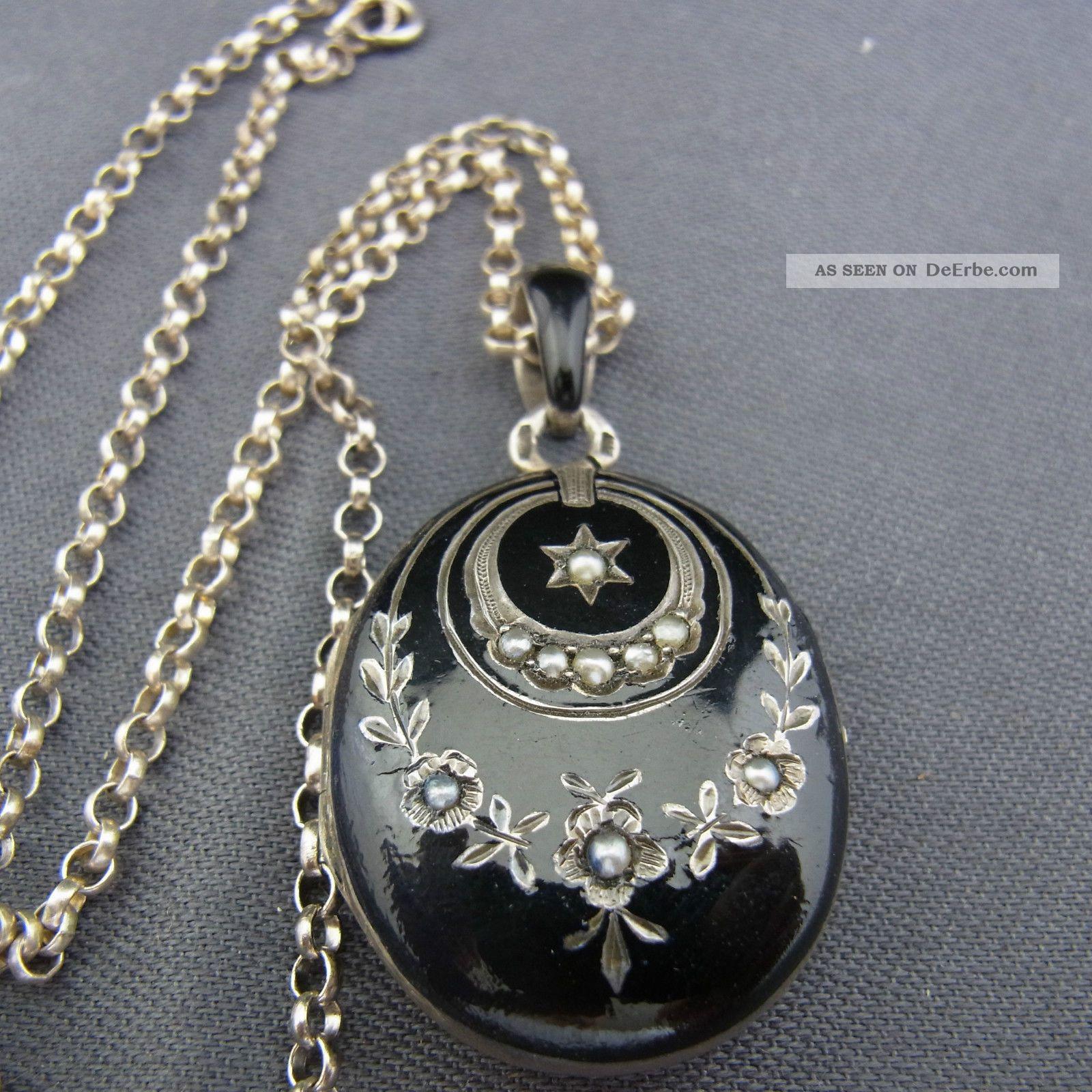 Medaillon silber  Antikschmuck - Schmuck & Accessoires - Anhänger - Antiquitäten