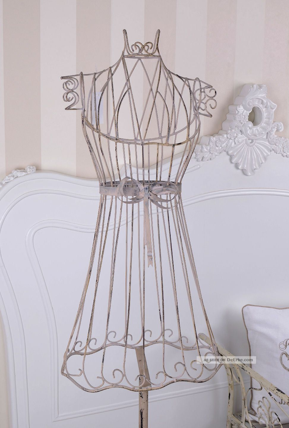 schneiderpuppe kleiderst nder weiss metallb ste vintage b ste schaufensterpuppe. Black Bedroom Furniture Sets. Home Design Ideas