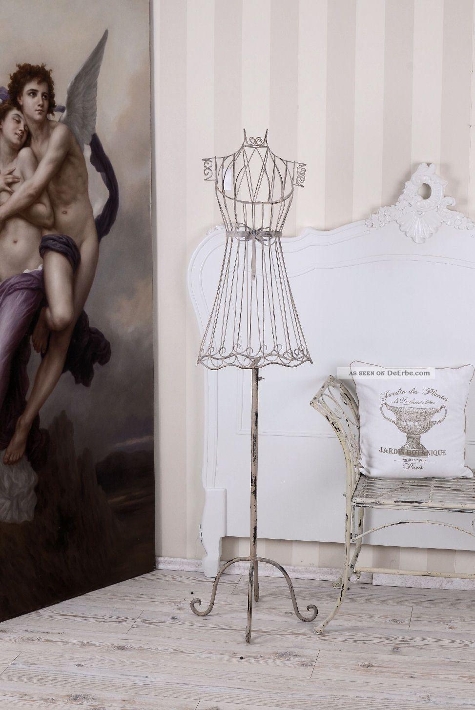 schneiderpuppe kleiderst nder weiss metallb ste vintage. Black Bedroom Furniture Sets. Home Design Ideas