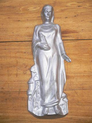 - - Heilige Barbara 7,  7 Kg Bergbau Andenken Deko Kohle Zeche Pütt Bild