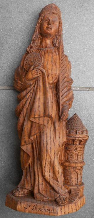 Bergbau Bergleute Zeche,  Figur Heilige Barbara Bild