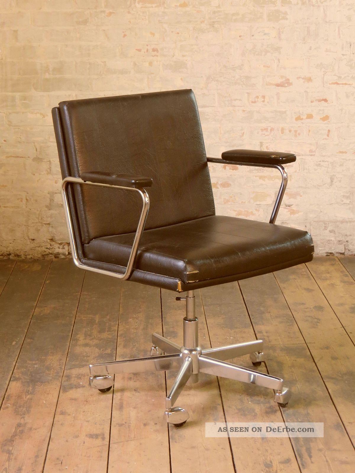 70er jahre b rostuhl schreibtischstuhl stuhl drehstuhl vintage 70s desk chair. Black Bedroom Furniture Sets. Home Design Ideas
