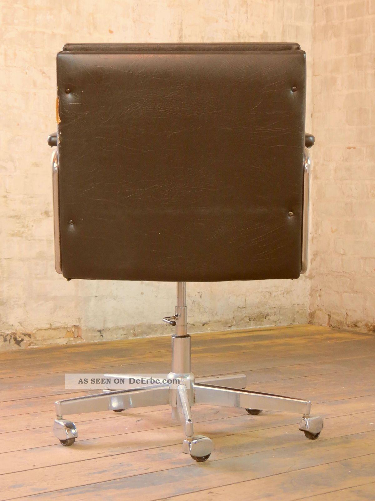 70er jahre b rostuhl schreibtischstuhl stuhl drehstuhl. Black Bedroom Furniture Sets. Home Design Ideas