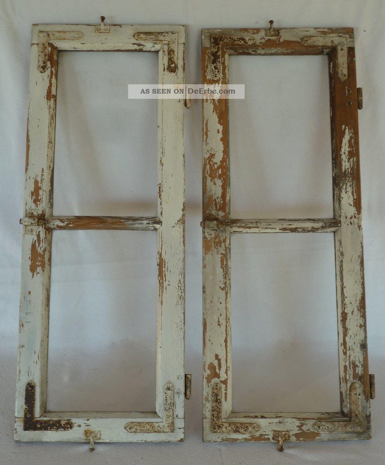 altes holzfenster fenster sprossen sprossenfenster holz 2 st ck. Black Bedroom Furniture Sets. Home Design Ideas