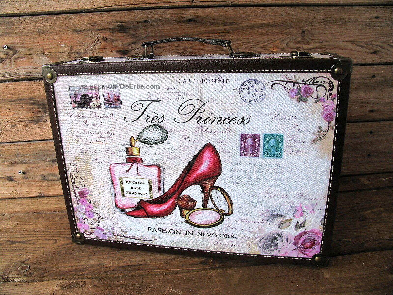 deko koffer tres princess klein. Black Bedroom Furniture Sets. Home Design Ideas