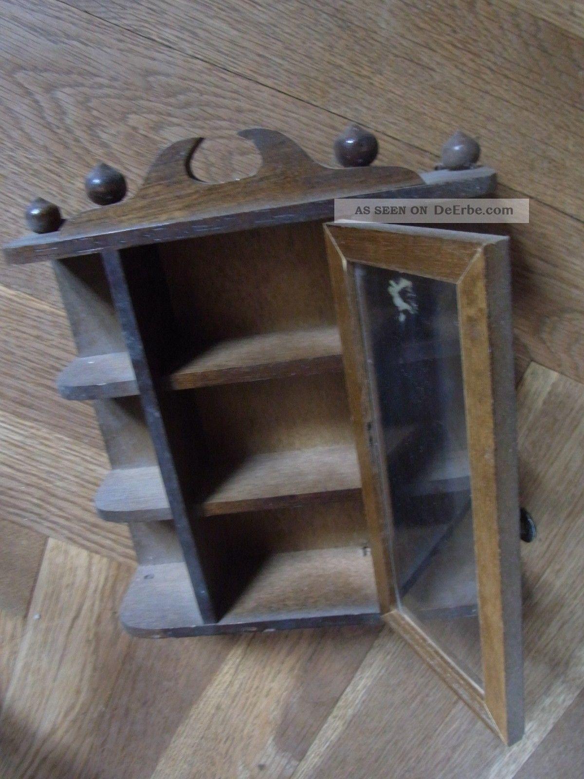 alter puppenstuben schrank puppen schr nkchen aus echtholz puppenm bel m bel rar. Black Bedroom Furniture Sets. Home Design Ideas