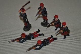 Elastolin Figuren,  Französische Soldaten,  6 Stück Bild