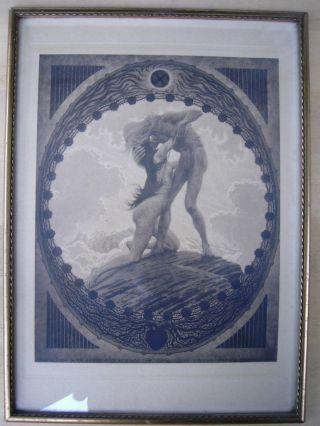 Fidus - Die Erde.  1911.  Im Zeitgenössichen Bilderrahmen Bild