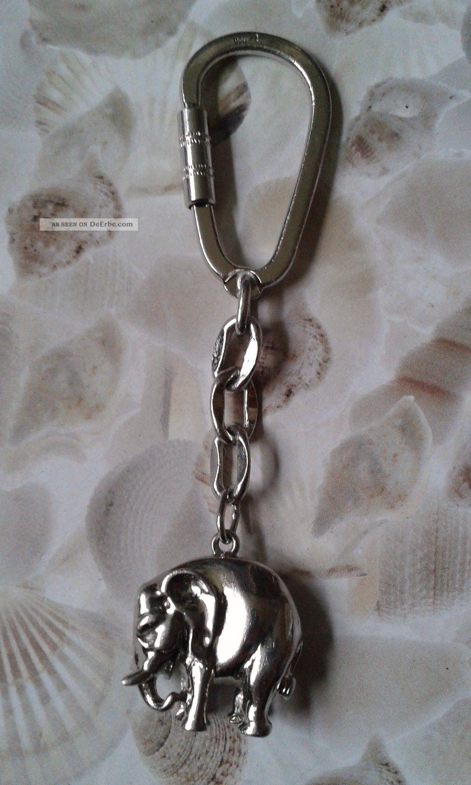 schl sselanh nger elefant silber 835 keychain elephant silver 835. Black Bedroom Furniture Sets. Home Design Ideas