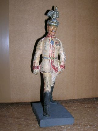 Lineol Massefigur Um 1910 - Kaiser Wilhelm Im Schritt - 15cm Serie Bild