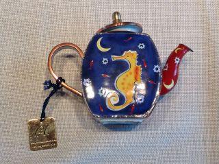 Charlotte Di Vita Goebel Teekanne Emaille Teapot Limitiert Bild