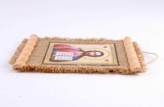 Kleine Textil Ikone Von Jesus Christus Bild