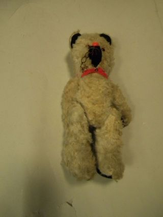 Alter Teddy Bär Eventuell Für Bastler Länge Ca 33 Cm Weiss Bild