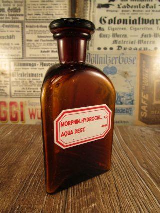 Altes Apothekergefäß / Flasche / Giftflasche,  Morphin,  Braun / Um 1920 Top Bild