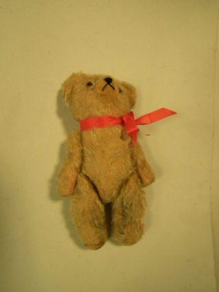 Alter Teddy Bär Eventuell Für Bastler Länge 25 Cm Beige Gelb Bild