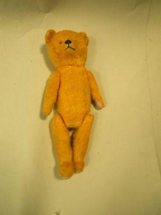 Alter Teddy Bär Eventuell Für Bastler Länge Ca 38 Cm Gelb Bild
